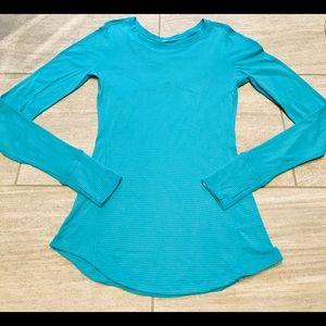 Lululemon 5 Mile Long Sleeve Peacock Blue - size 6